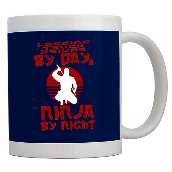 Teeburon Logging Truck Driver by Day, Ninja by Night Taza ...