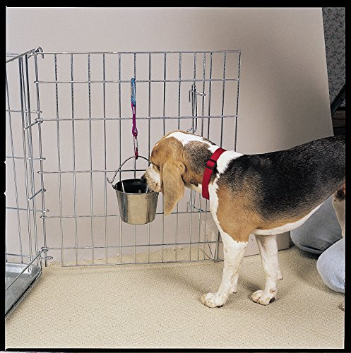 Pro Select Stainless Steel Flat Sided Pails — Durable Pails for Fences, Cages, Crates, or Kennels - 8'', 4-Quart by Pro Select (Image #3)