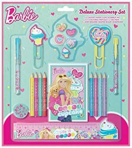Anker Barbie - Set de accesorios de papelería, diseño de Barbie