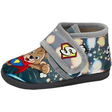 VULCA-BICHA 1099 Chinelas DE CASA NIÑO Zapatillas CASA Gris 25: Amazon.es: Zapatos y complementos