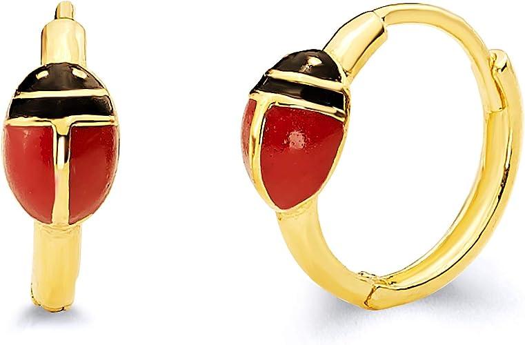 Color Rojo Esmalte Y Oro Metal Stud Brazalete De Bisagra