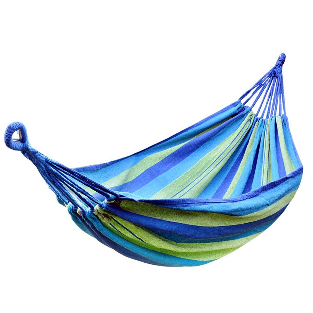 YY Hängematte Stripe Hängematte Outdoor 1 Personen Tragbare Camping Tourismus 200 × 100 cm 2 Farbe Optional