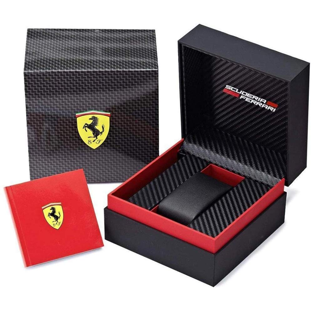 Ferrari Men 0830260 REDREV EVO Analog Display Quartz Black Watch