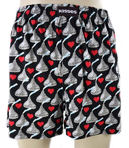 Hersheys Kisses Hearts Mens Boxers in Black