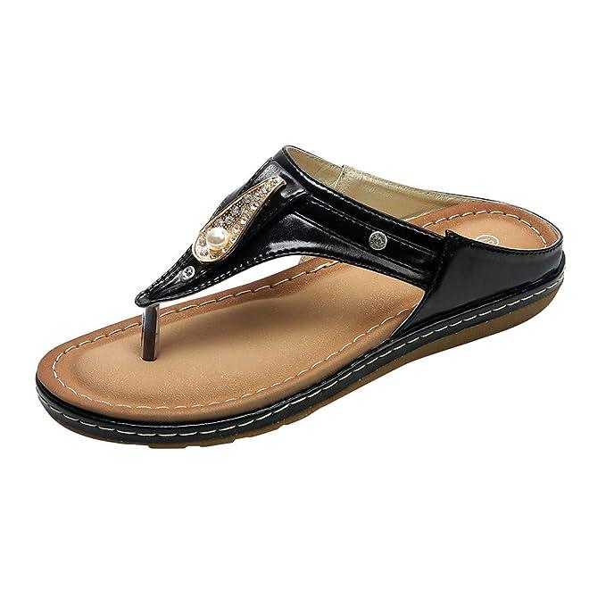 07057ce56 Amazon.com  Women Rhinestone Flat Flip Flops