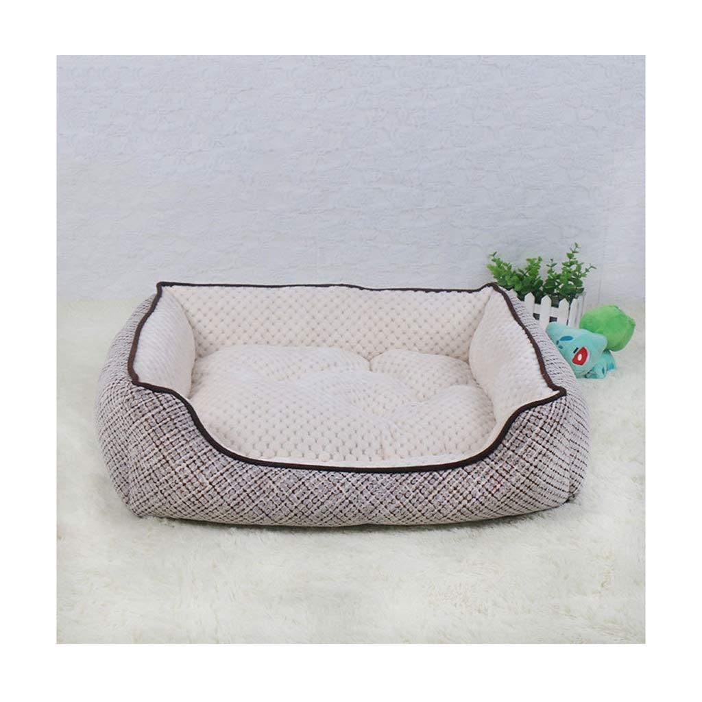 3  46cm35cm13cmDSADDSD Pet House Dualuse Mat Kennel Cat Dog Beds Sofas Warm Soft Dogs House Kennel Baskets Four Seasons Using Pet Supplies (color   2 , Size   58cm47cm15cm)