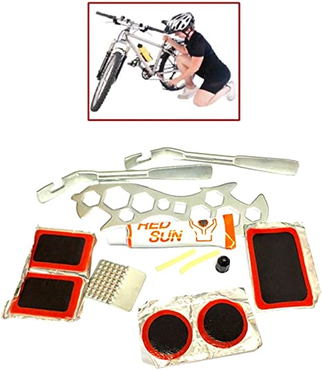 Evolo Bicycle Bike Tire Tube Puncture Repair 130psi Smart Patches w//Tire levers