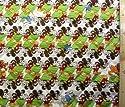 <Qキャラクター・キルティング生地>ミッキー&ミニーマウス×寺田順三(生成/グリーン)#2 ( 2018-2019)(キルティング キルト キャラクター キルティング生地 布 入園 入学 ピロル)の商品画像