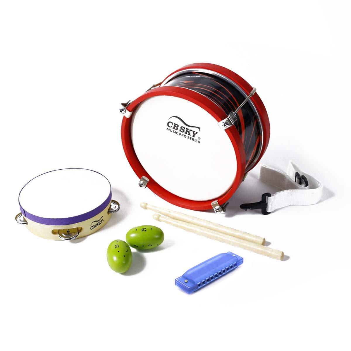 Sin impuestos Colorful XIANGBAO-Instrumento musical Artículos para fiestas de música, juego de de de juguetes para niños pequeños (7 piezas) con tambor de marcha, pandereta, batidor de huevos, armónica para preescolar, educativo  Disfruta de un 50% de descuento.