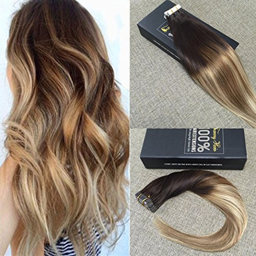 707870863802 Upc Sunny Dip Dye Remy Tape In Extensions Echthaar
