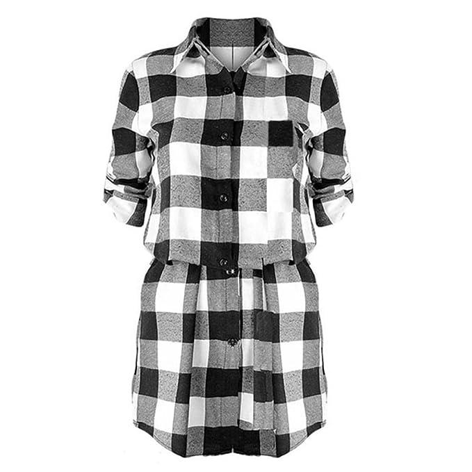Juleya moda mujer vestido a cuadros - 2017 otoño estilo clásico camisa de manga larga pullover