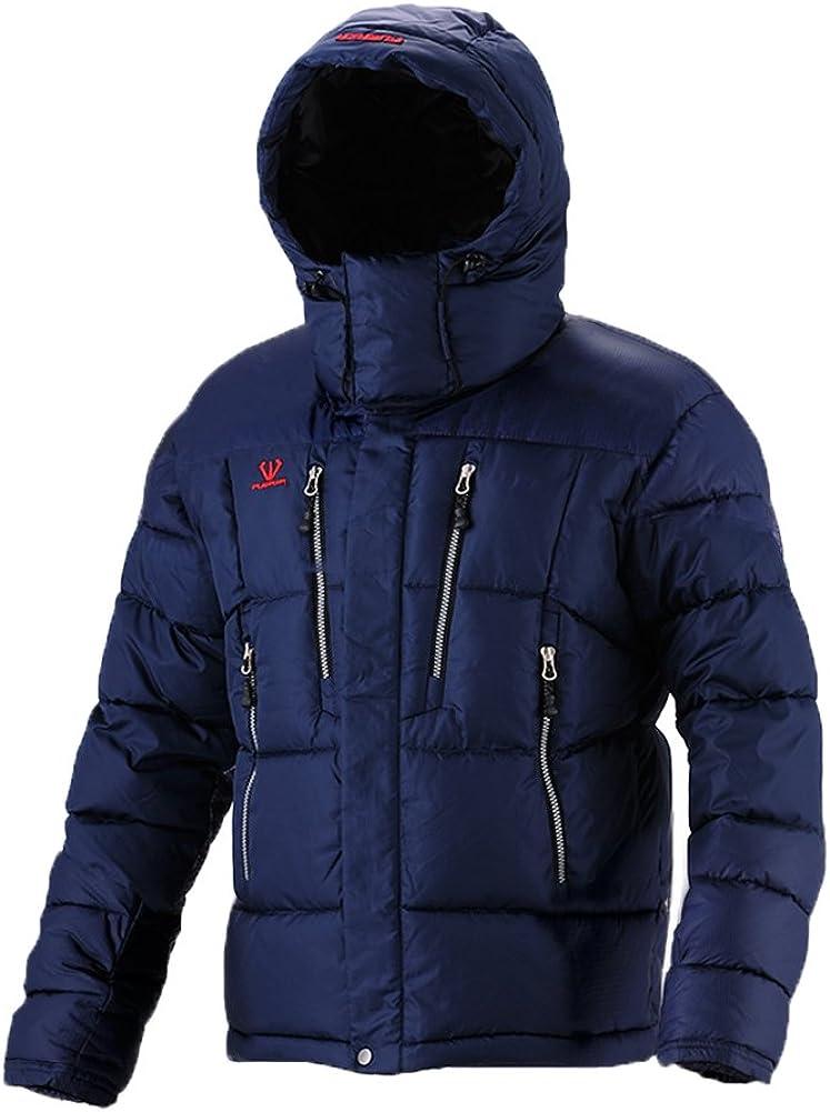 xtsrkbg Mens Quilted Warm Winter Hoodie Overcoat Puffer Down Jacket