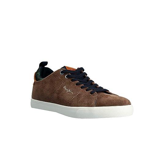 Zapatillas Hombre Pepe Jeans, Marton Suede MARRÓN PMS30502: Amazon.es: Zapatos y complementos