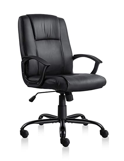 Comfortable office furniture Relaxation Amazoncom Pto Furniture Office Chair Leather Office Desk Chair Comfortable Task Chair With Armrests black Kitchen Dining My Black Lab Wordpresscom Amazoncom Pto Furniture Office Chair Leather Office Desk Chair