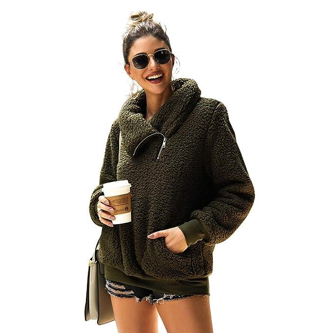 Amazon.com: Suéter para mujer, de forro polar, informal, de ...