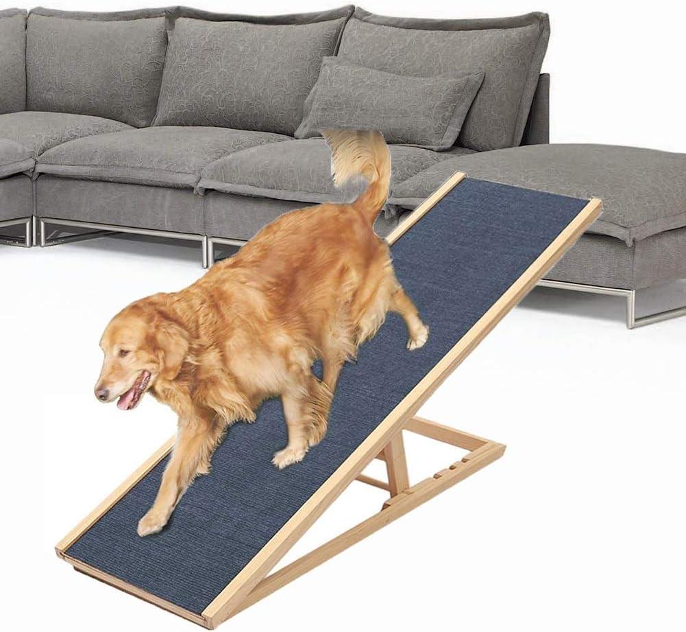 LXLA Rampa Plegable para Escaleras de Perro Mascota para Sofá Cama de Coche Alto, Escalera de Asistencia para Perros de Madera con 4 Gear Heights: Amazon.es: Hogar