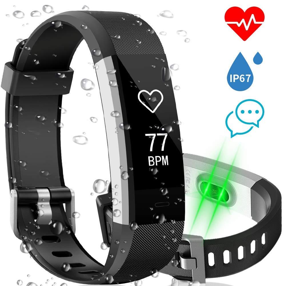 Pulsera Actividad AISIRER Pulsera Inteligente Smart Bracelet con Podómetro, Pulsómetro, Monitor de Sueño, Contadores de Calorías, Notificación de Mensajes ...