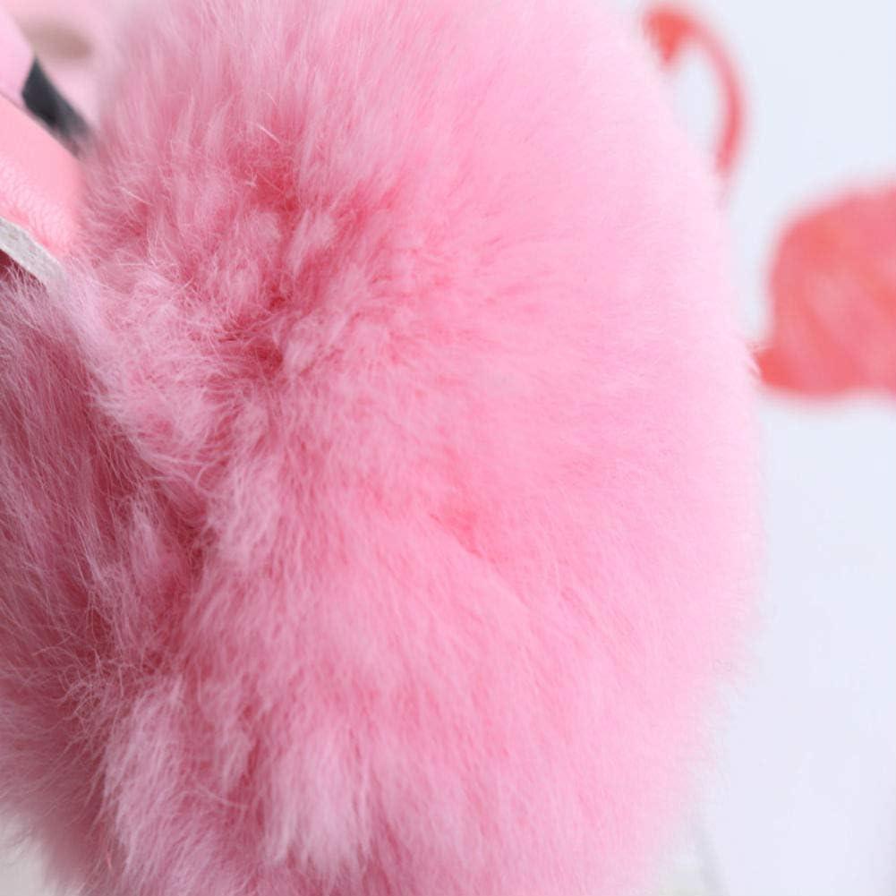 Qifumaer 1pc Fashion Charm Pompom Cute Pendant Keyring Keychain Key Rings Chains Buckles Metal Handbag Tote Bags Decoration Car Keys Birthday Gift for Women Girls Ladies Rose Red