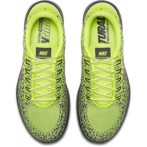 Nike - Free Rn Distance Shield Yellow - Sneakers Man Amarillo (Volt / Mtlc Red Bronze / Dark Grey / Black)