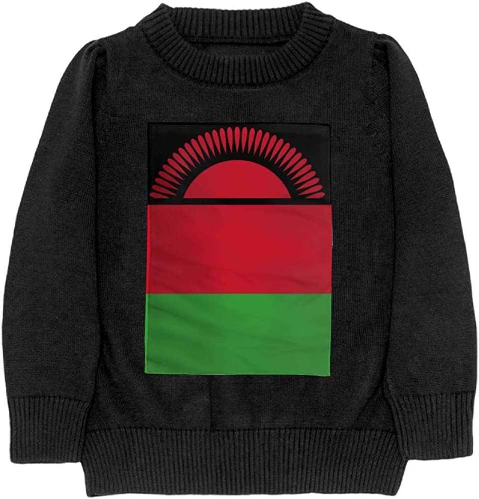 DTMN7 Flag of Malawi Teens Sweater Long Sleeves Crew-Neck Youth Athletic Casual Tee Junior Boys