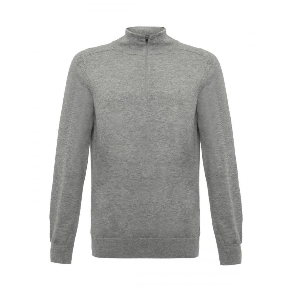 Wolsey Men's 100% Extra Fine Merino Wool Quarter-Zip Sweater, Grey Melange Xx-large Grey Melange