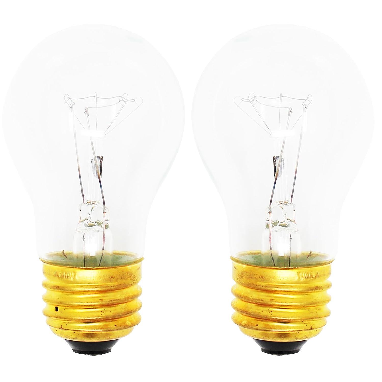2-Pack Replacement Light Bulb for KitchenAid KSCS25FJSS00 - Compatible KitchenAid 8009 Light Bulb