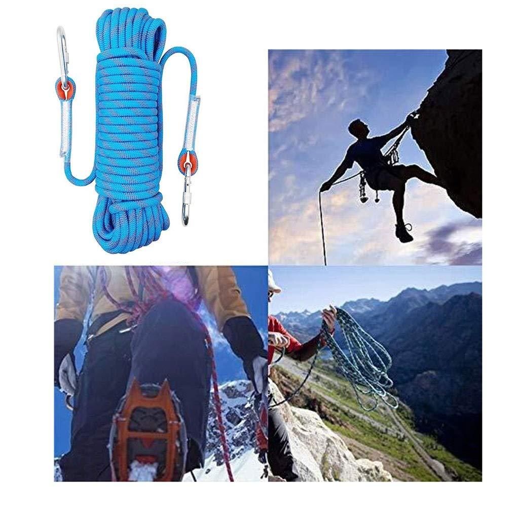 アウトドアクライミングロープ、高強度救命静電ロープアドベンチャーラッペリングロープ、登山アドベンチャーロープキャンプレスキュー耐火性ナイロンロープ直径12mm (Size : 100m)  100m