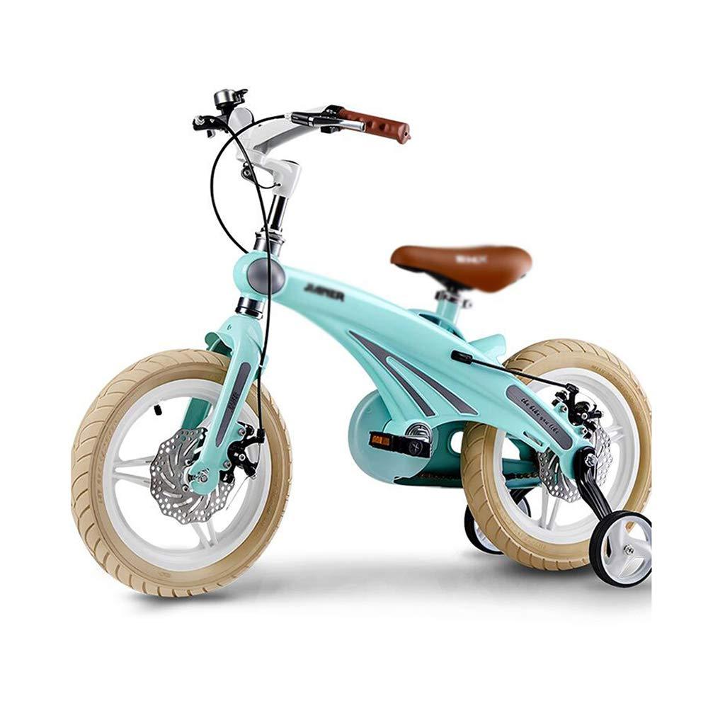 Bici per bambini Bicicletta velocità Mountain Bike Bambini 12 14 16 inch Shock Absorption Bicicletta Antiscivolo (Colore   blu, Dimensione   16inch(113  38  88cm))