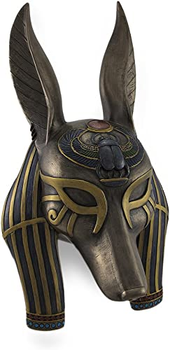 Veronese Design Mask of Anubis The Jackal God Sculptured Wall Hanging