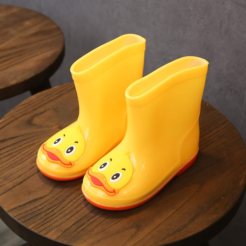 Toddler Kids Baby Girls Boys Rain Shoes PVC Cartoon Animals Rain Boots Shoes Galoshes for 2-7 Years Old