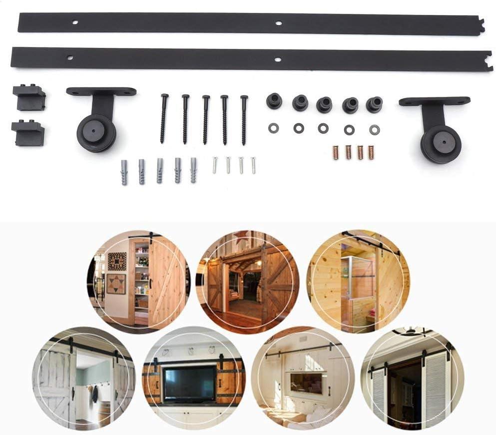 T-Typ Laufschienen f/ür Schiebet/ür Schiebet/ürsystem H/ängeschiene Laufschiene T/ür Hardware Kit BigButterflyde 12FT//366cm Schiebet/ürbeschlag Set
