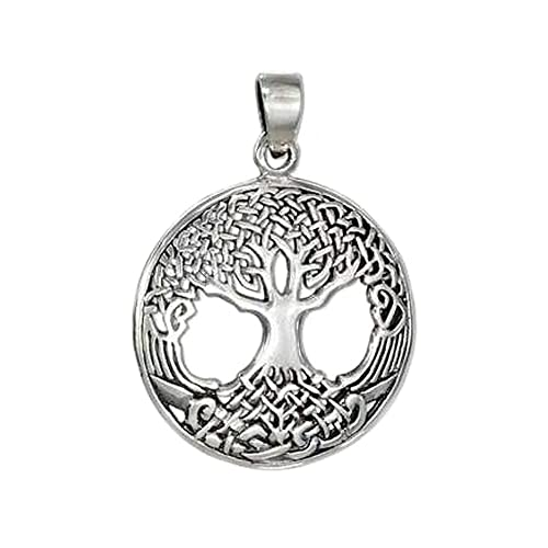 Amazon.com: Plata de ley Ornate Celta Árbol de la vida ...