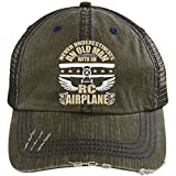 With An RC Airplanes Hat, I Love My RC Airplanes Trucker Cap (Trucker Cap - Brow)