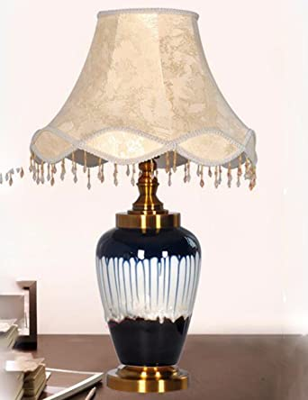 CJSHV-Lámpara de mesa de cerámica china de gama alta de la ...
