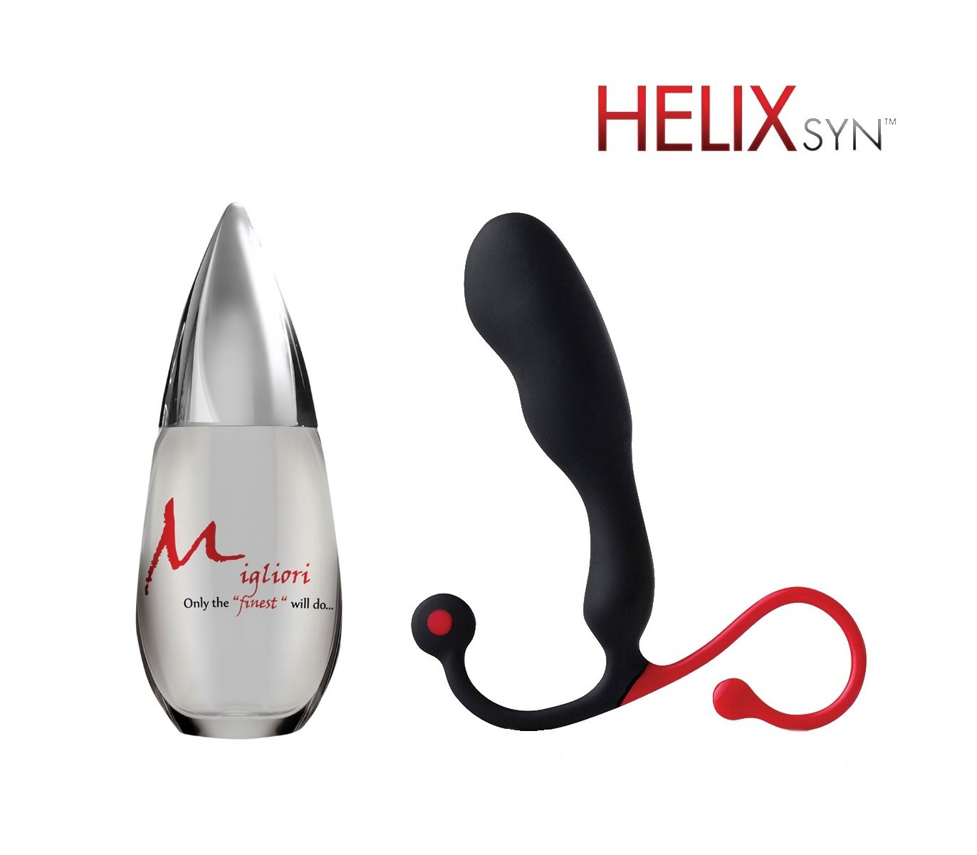 Aneros Helix SYN paired with Migliori premium silicone-based lubricant (100 ml) by Aneros, Migliori