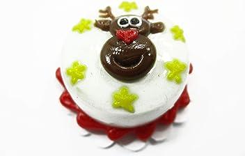 Dollhouse Food Supply 1 Cake 2 cm Christmas Seasonal Dollhouse Miniature 14922