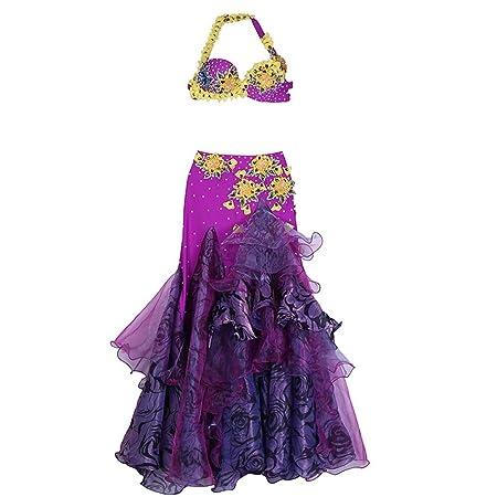 Vestido de baile Belly Dance Costume Belt Mujeres profesionales ...