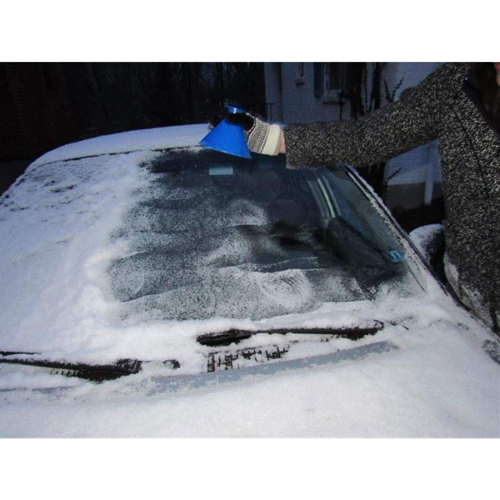 Greyghost Round Ice Scraper Cone Funnel Shaped Car Windshield Snow Removal Black