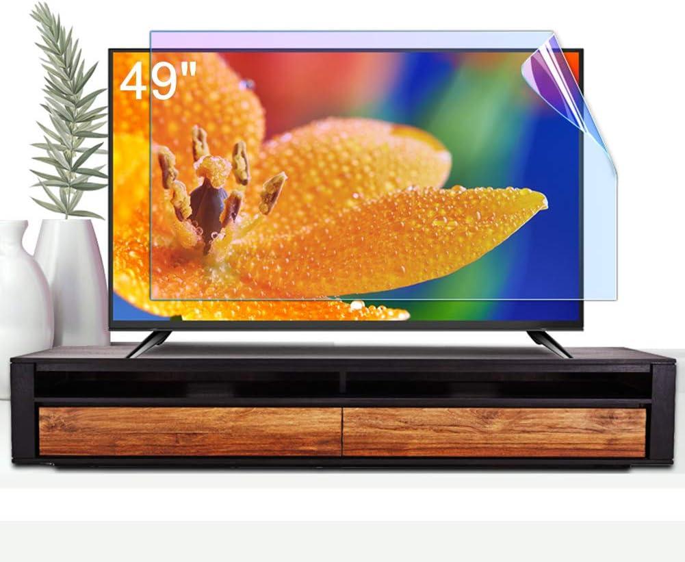ZSLD Protector De Pantalla De TV LCD De 49 Pulgadas, Película De Filtro Antirreflejo/Rayado Que Bloquea Los Rayos Azules Dañinos Y Protege Sus Ojos, para Sharp Sony Samsung, Etc.: Amazon.es: Hogar