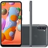 """Smartphone SAMSUNG A11 Preto 64GB Android 10 Tela 6.4"""" Camera 13MP"""