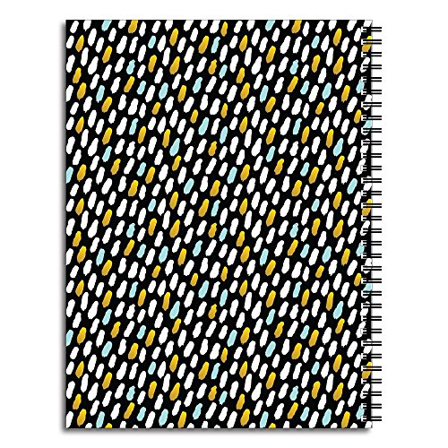 Blue Abstract Dot Personalized Monogram Spiral Notebook/Journal, 120 College Ruled or Checklist Pages, durable laminated cover, and wire-o spiral. 8.5x11 | 5.5x8.5 | Made in the USA Photo #4