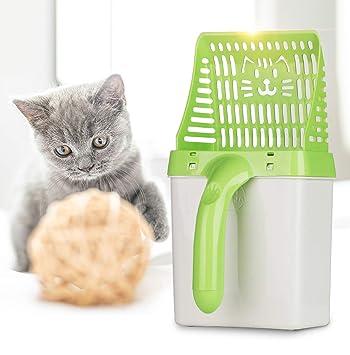 Qwhome Pala para Gatos, Herramienta de Limpieza para Mascotas ...