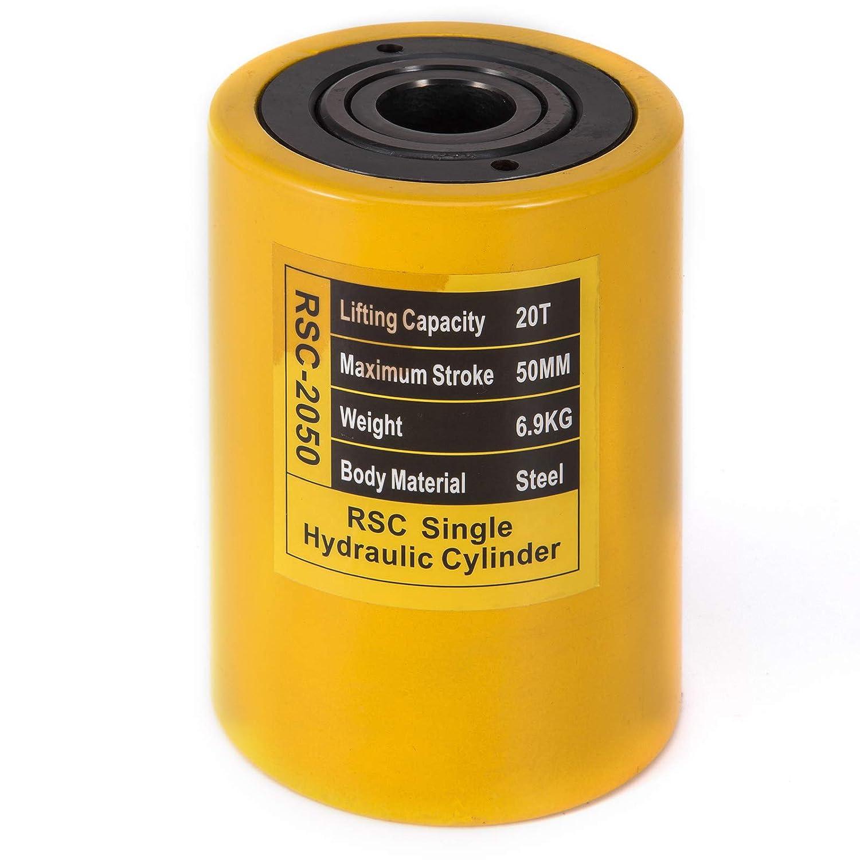Mophorn V/érin hydraulique /à Piston Creux 10ton 50mm Cric Hydraulique