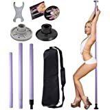 Dance Pole Full Kit Portable Stripper Exercise Fitness Club Party Dancing Purple