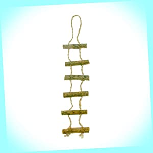 New Wood Jute Ladder Tree House Rope Stairs Fairy Garden Miniature Dollhouse Magic Scene Supplies Accessories Dia-#0298N