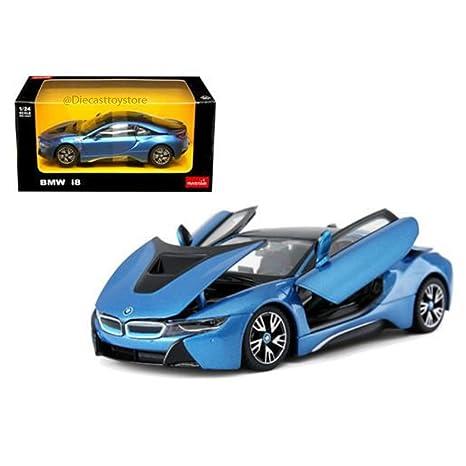 Amazon Com Rastar 1 24 W B Bmw I8 Blue Color 56500bl Toys Games