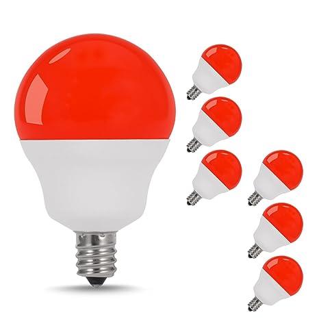 JandCase Bombillas LED rojas, 5 W (40 W equivalente a incandescente), base