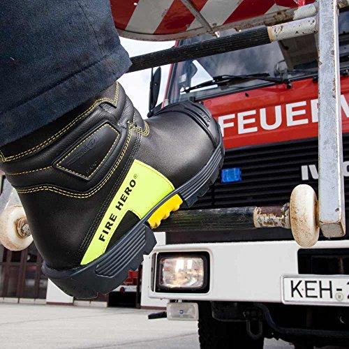 HAIX Herren Feuerwehrstiefel Fire Hero Vario schwarz, UK 4.5 / EU 37