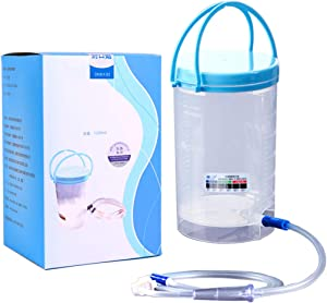 Reusable Enema Kit, Maeeli Coffee Enema Bucket Kit Detox Body Cleaner Unisex - 1200ML Coffee Enema Kit - Suitable for Coffee, Water Therapy - Includes 10 Replacement Nozzles