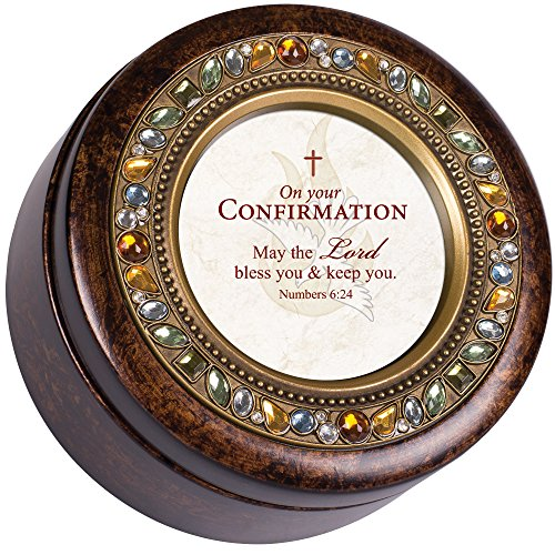 (Cottage Garden Confirmation Lord Bless Amber Earth Tone Jewelry Music Box Plays How Great Thou Art)